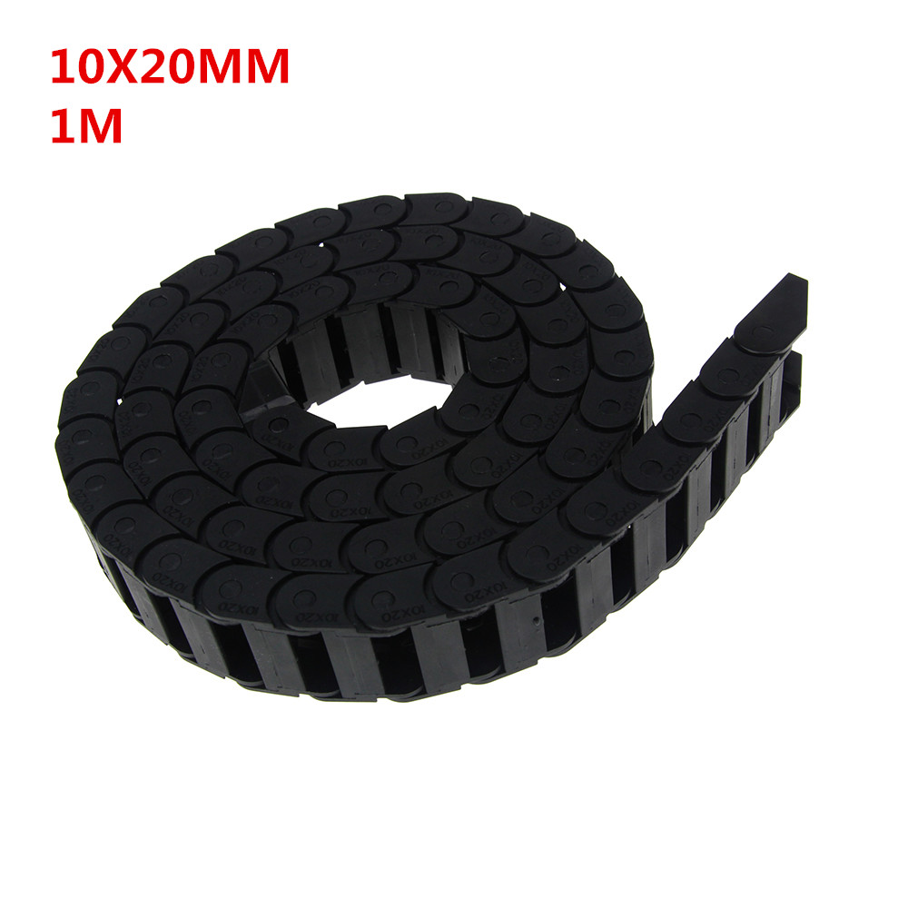 цена на 10 x 20mm 10*20mm L1000mm Cable Drag Chain Wire Carrier with End Connectors for CNC Router Machine Tools