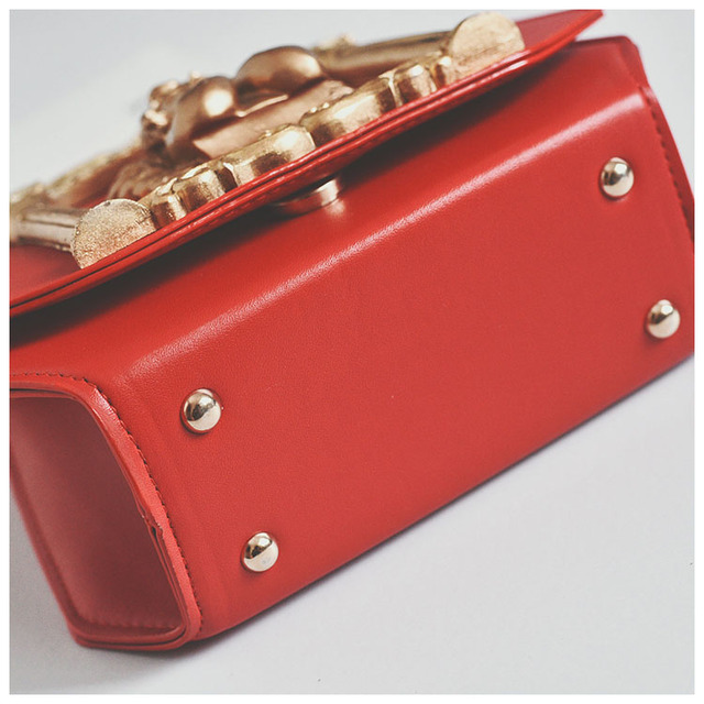 Baroque women's handbag vintage bag embossed pearl chain handbag shoulder bag
