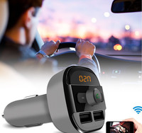 Car MP3 Audio Player Bluetooth FM Transmitter Wireless FM Modulator Car Kit HandsFree LCD Display USB