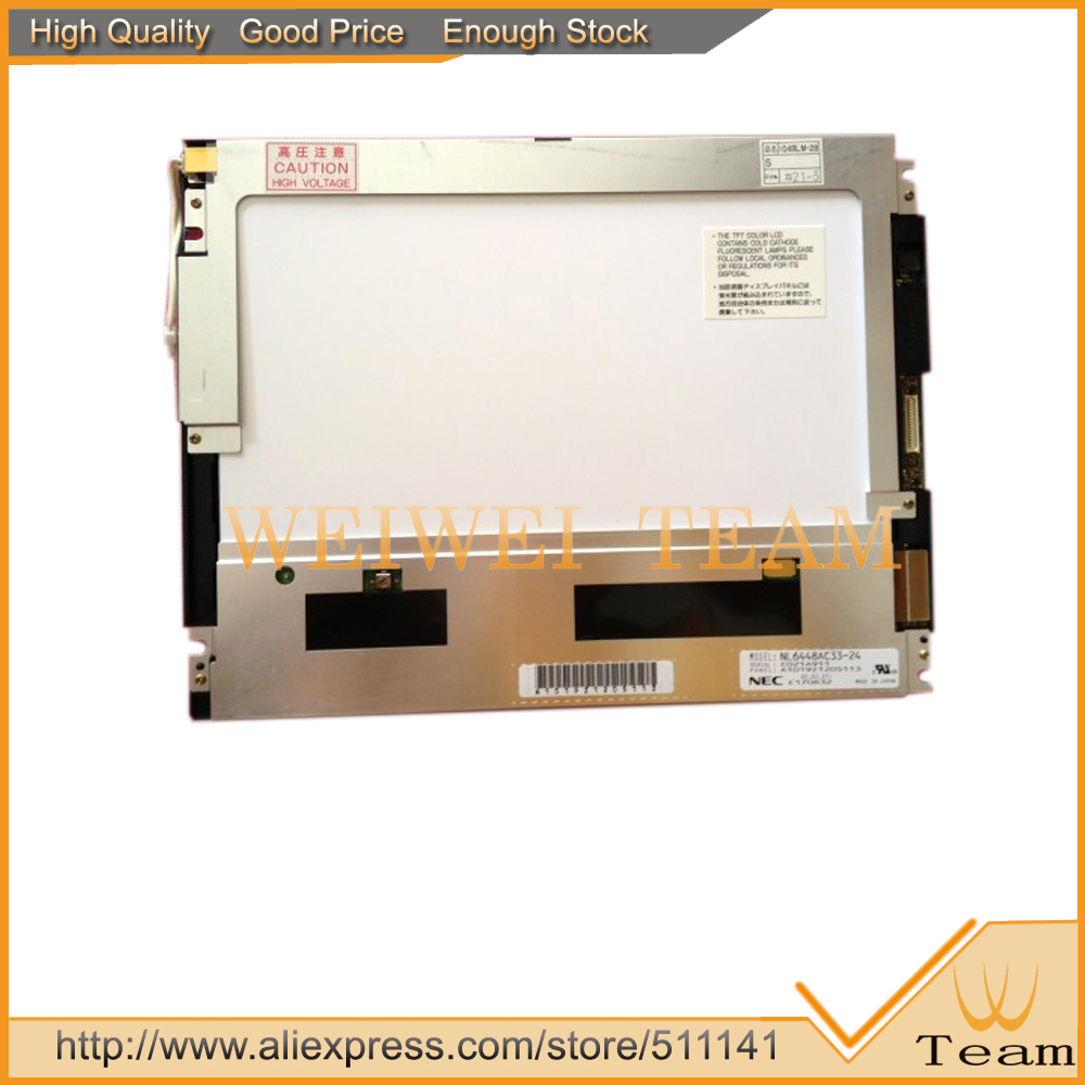 Original 10.4 inch 640*480 For NEC NL6448AC33 24 LCD Screen Display Panel
