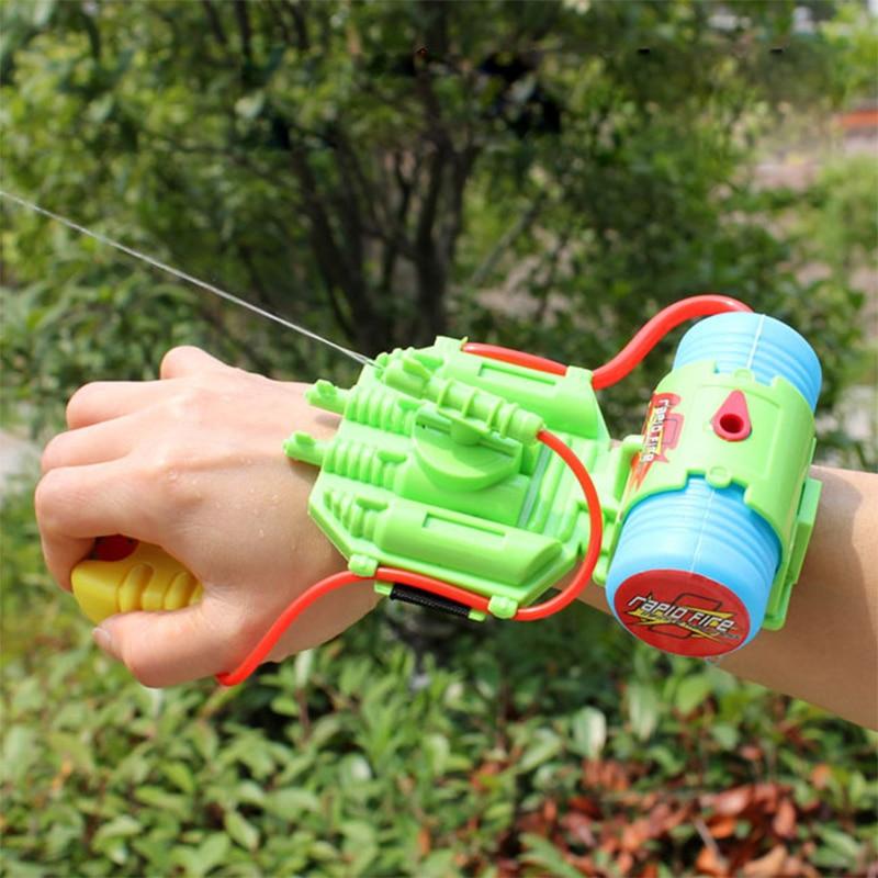 4M Range Wrist Water Gun Plastic Swimming Pool Beach Outdoor Shooter Toy Sprinkling Simba Spider-man