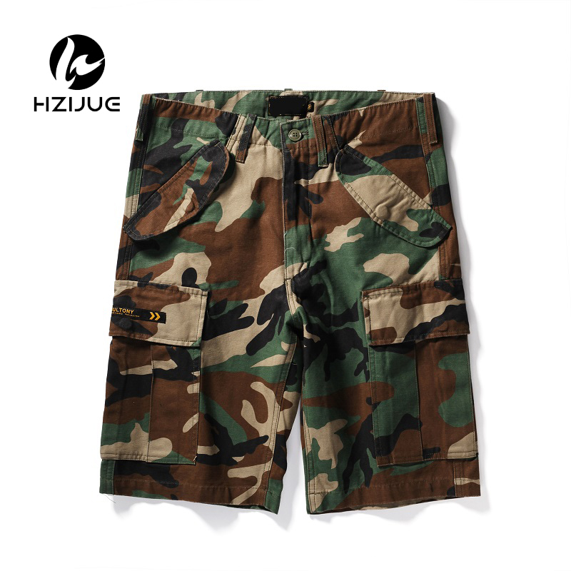 Mens camouflage Shorts 2018 Fashion Summer Men Shorts Cotton Casual Mens Military Style Army Tactical Long Cargo Short Male