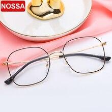 Новая простая Ретро металлическая оправа для очков полная оправа корейская мода плоское зеркало Большая оправа квадратные очки c характером оправа