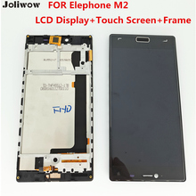 FOR Elephone M2 LCD Display+Touch Screen+Frame+ Tools 100% Original Digitizer Assembly Replacement Accessories For Phone for elephone p6000 pro lcd display touch screen tools 100
