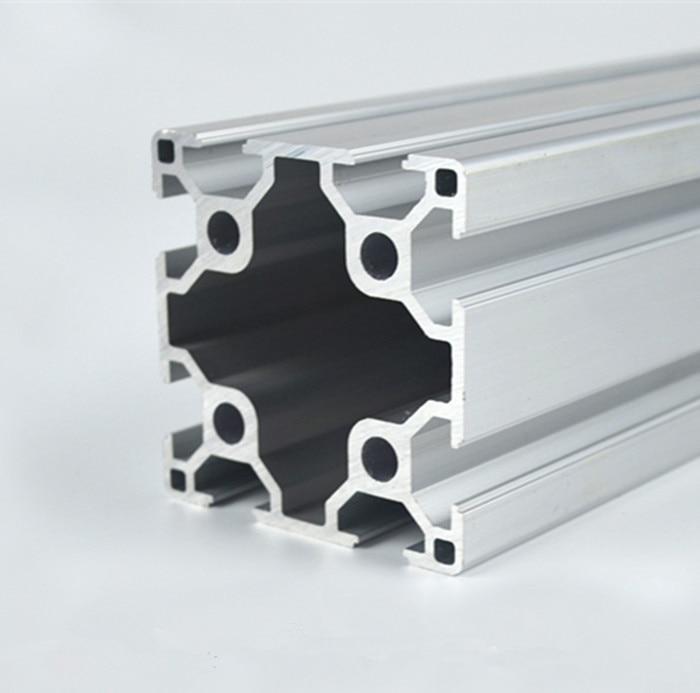 6060 Aluminum Extrusion Profile European Standard White Length 200mm Industrial   Workbench 1pcs