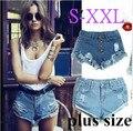 2015 pantalones cortos de jean rasgado para mujeres