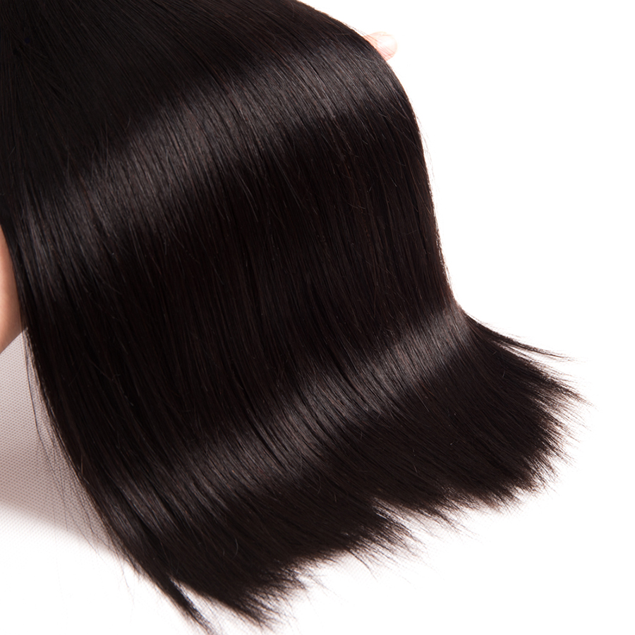 10A Grade Straight Hair Brazilian Virgin Hair Weave Bundles - Մարդու մազերը (սև) - Լուսանկար 6