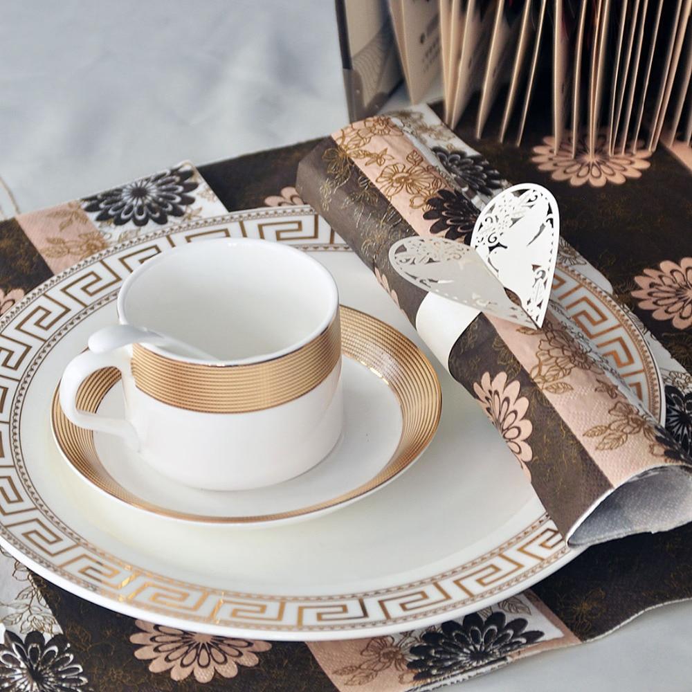 50pcs/lot White Pigeon Napkin Buckles Paper Napkin Rings For Wedding ...