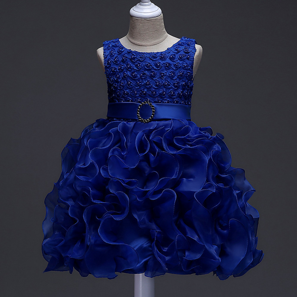 Flower Girls Dress Summer 2018 Ball Gown Baby Girls Princess Dress for Wedding Party Kids Dresses For Girls Children Costumes пижама chicco chicco ch001ebatax7