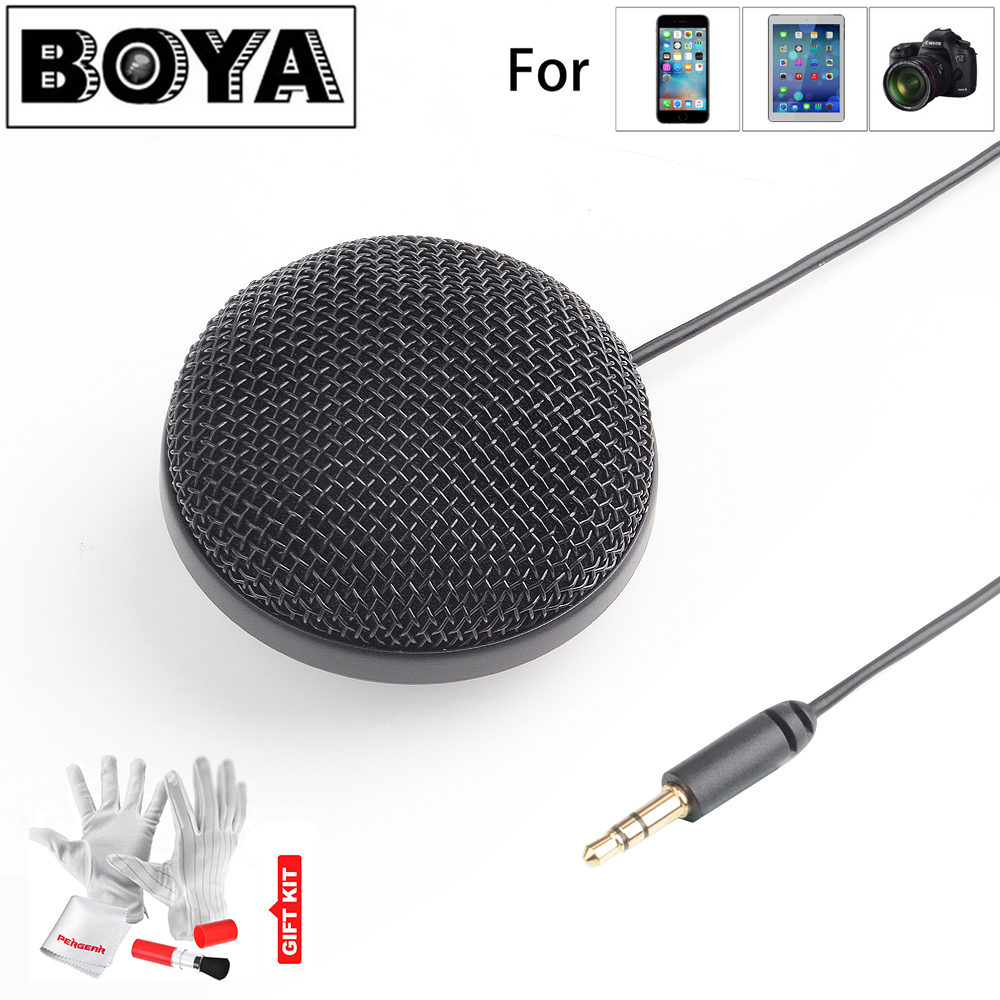 BOYA BY-MM2 Omnidirectional Condenser Stereo Microphone for iPhone Canon Nikon for Sony DSLR Camera for Panasonic Camcorder boya by sm80 stereo condenser video microphone with windshield for canon for nikon for sony dslr camera microphone camcorder