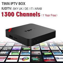 Européenne IPTV Boîte T95N Android TV Box Ciel IPTV Récepteur et 1300 + Ciel Français Turc Pays-Bas Canaux Mieux Que MXV Android T