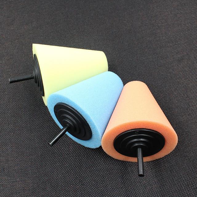 Wheel Hub Polish Buffing Shank Polishing Sponge Cone Metal Foam Pad Car 6MM High Quality