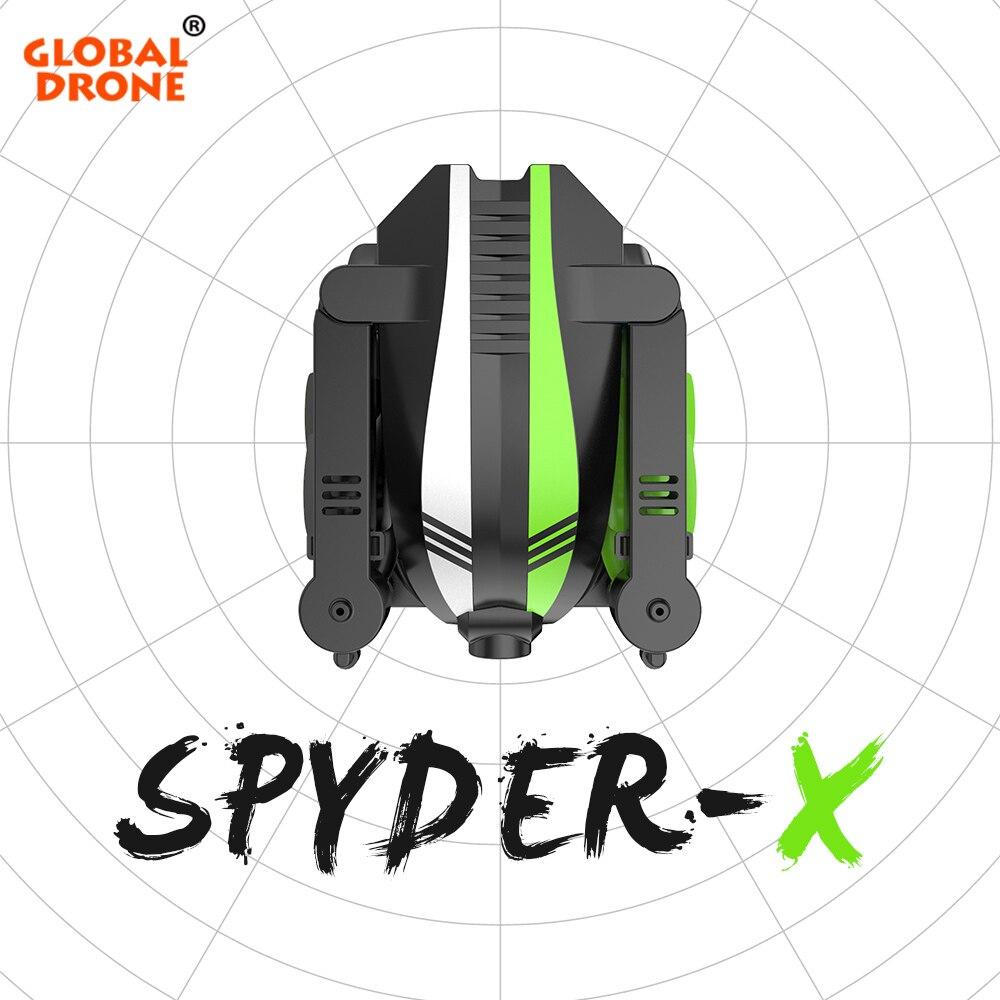 Oyuncaklar ve Hobi Ürünleri'ten RC Helikopterler'de Küresel Drone SPYDER X Drones Kamera ile HD Katlanabilir Mini Drone 2.4G 6 Eksen Gyro Irtifa Tutun FPV RC Drone quadrocopter'da  Grup 1