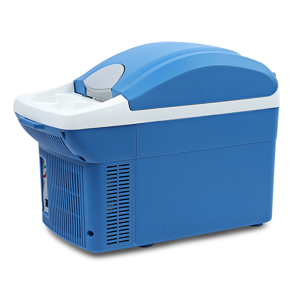 8L Portable Mini Warming and Cooling Vehicle Refrigerator Car Freezer Fridge Hot and Cold Double Use For car 7 5l car refrigerator car travel vehicular fridge dual use portable hot and cold mini heating and cooling box with cup holder