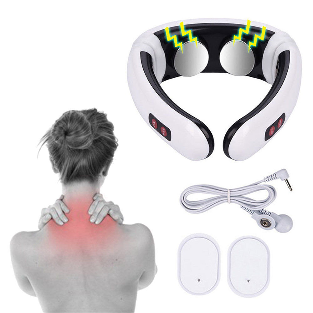 Electric Pulse Back and Neck Massager Far Infrared Pain Relief Tool Health Care Relaxation Multifunctional PhysiotherapElectric Pulse Back and Neck Massager Far Infrared Pain Relief Tool Health Care Relaxation Multifunctional Physiotherap