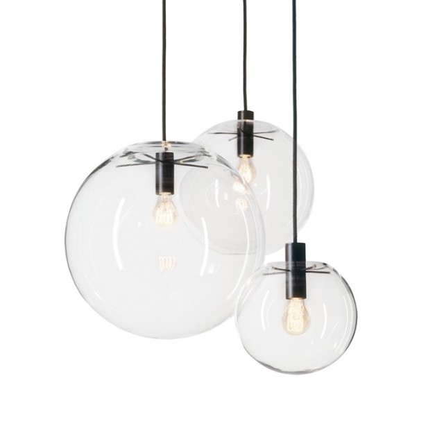 nordique pendentif lumi res globe chrome lampe boule de. Black Bedroom Furniture Sets. Home Design Ideas