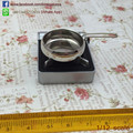 Dollhouse Miniature Silver Saucepan Kitchenware Cooking Frying Pan with Handle