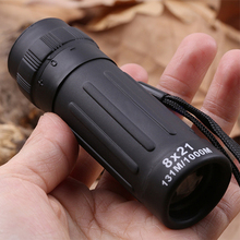 8×21 Compact Adjustable Focus Zoom Optic Lens Pocket Size Black Coated Monocular Telescopes with Bag For Sport Outdoor Travel