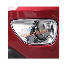 Chrome передние противотуманные свет лампы Крышка отделка 2 шт. для Jeep Grand Cherokee 2011-2013