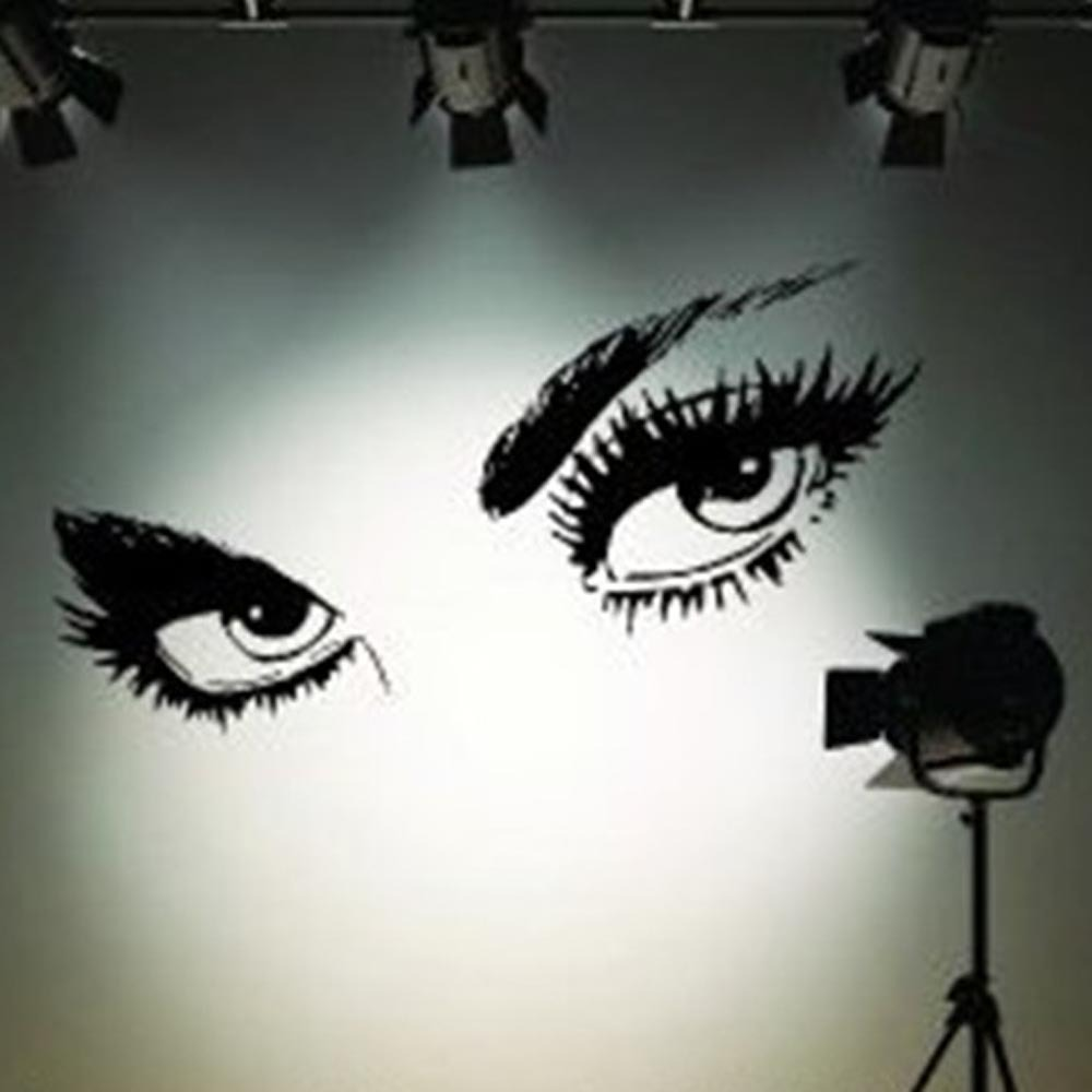 Audrey hepburns sexy eyes 3d wall sticker art decals 8024 home audrey hepburns sexy eyes 3d wall sticker art decals 8024 home decor black sml in wall stickers from home garden on aliexpress alibaba group amipublicfo Images