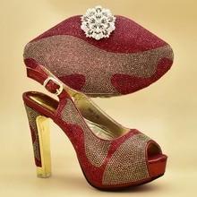African shoe and bag set high heel Italian shoe with matchin