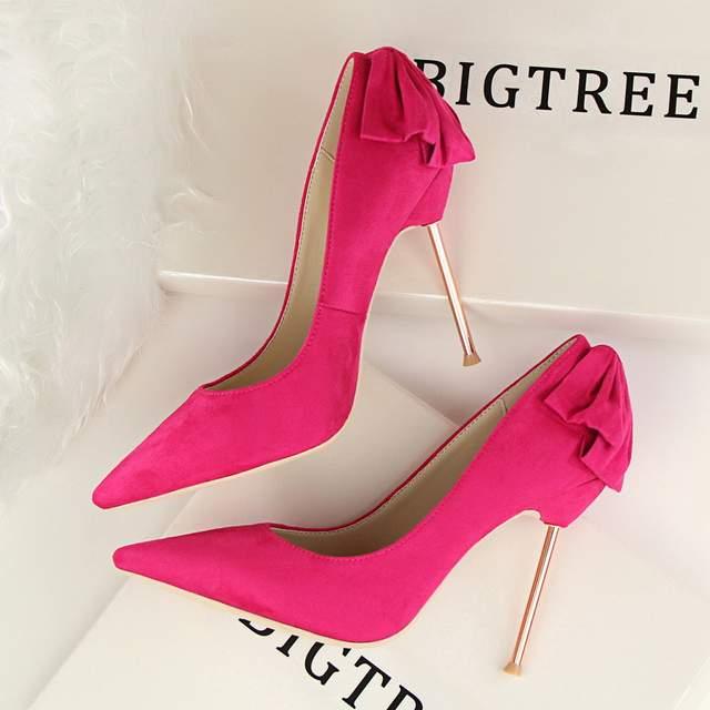 mirada detallada 21ab5 879f6 Bigtree marca zapatos mujer tacones altos bombas tacones rojos 10 CM de Las  Mujeres Zapatos de Tacón Alto de La Boda Zapatos Bombas Negro Zapatos ...