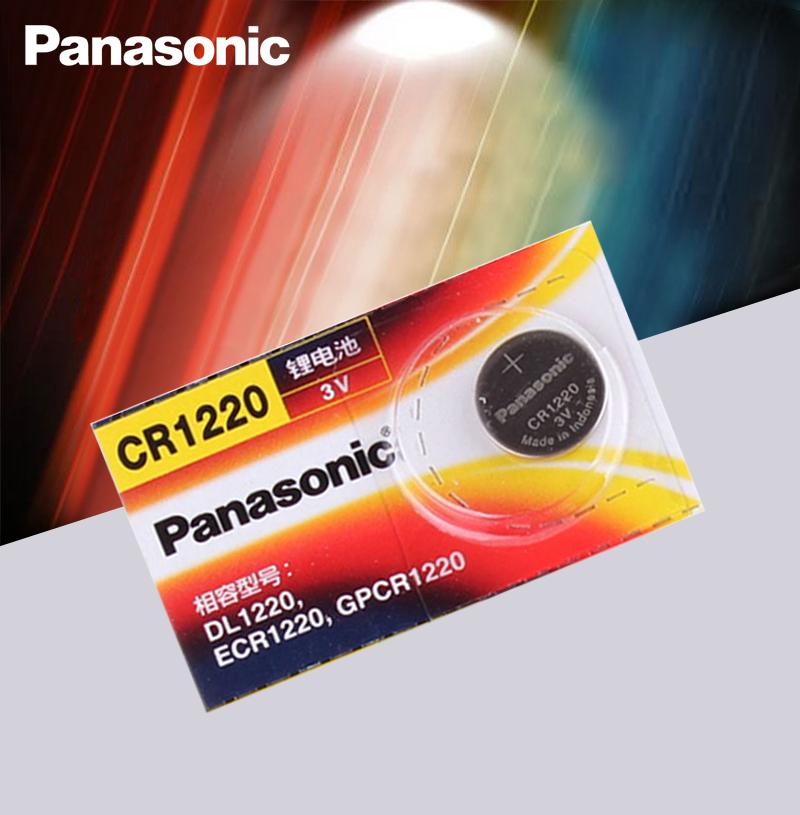 Original Panasonic CR1220 Button Cell Batteries CR 1220 3V Lithium Coin Battery BR1220 DL1220 ECR1220 LM1220
