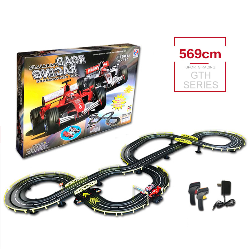 Genuine 1:43 RC Car Toys High Speed Track Electric Wired Remote Racing Car Toys DIY Building Parent-child Interaction toys