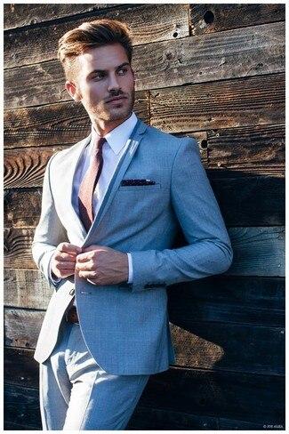 Été plage gris formel smoking sur mesure hommes costumes veste meilleurs hommes Blazer beau affaires Skinny marié costume bal 2 pièce