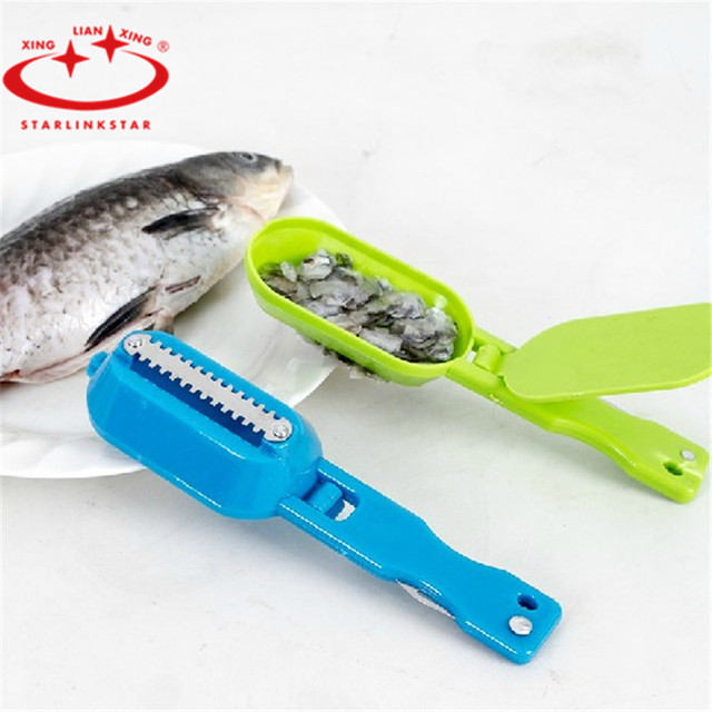 1 pc fish scraper plastic fish cleaning knife fish scale for Fish cleaning tools