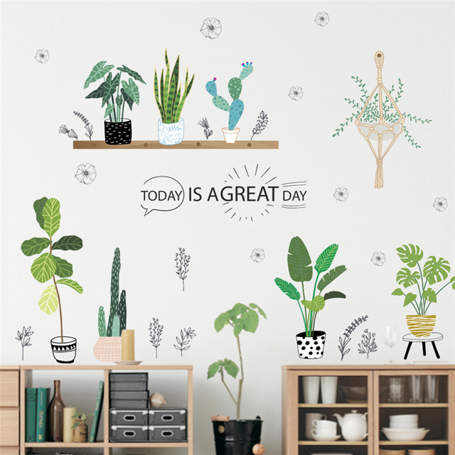 garden green grass plant wall decals home decor living room kids