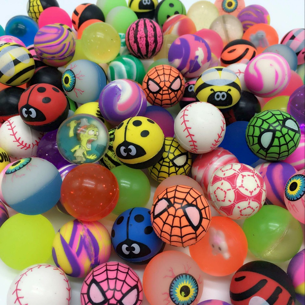 Toy Rubber Balls : Pcs lot funny toy balls mixed bouncy ball child elastic