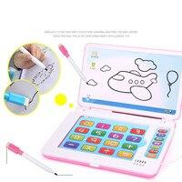 Multifunction обучающая машина Английский ранний планшетный компьютер игрушка малыш