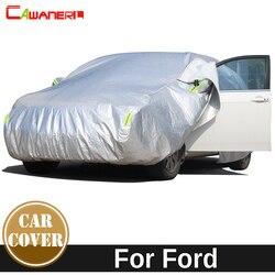 Cawanerl zagęścić bawełniana motyw samochodu pokrywa wodoodporna słońce śnieg grad deszcz ochrona przeciwpyłowa samochodowa pokrywa dla ford escort Kuga Focus Mustang