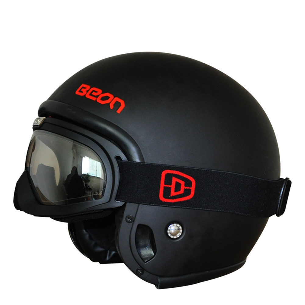 9480efd52 BEON Modular Motorcycle Helmet Retro Chopper Cruiser Cascos Moto Casque Capacete  Vintage Bike Helmets with Goggles-in Helmets from Automobiles   Motorcycles  ...