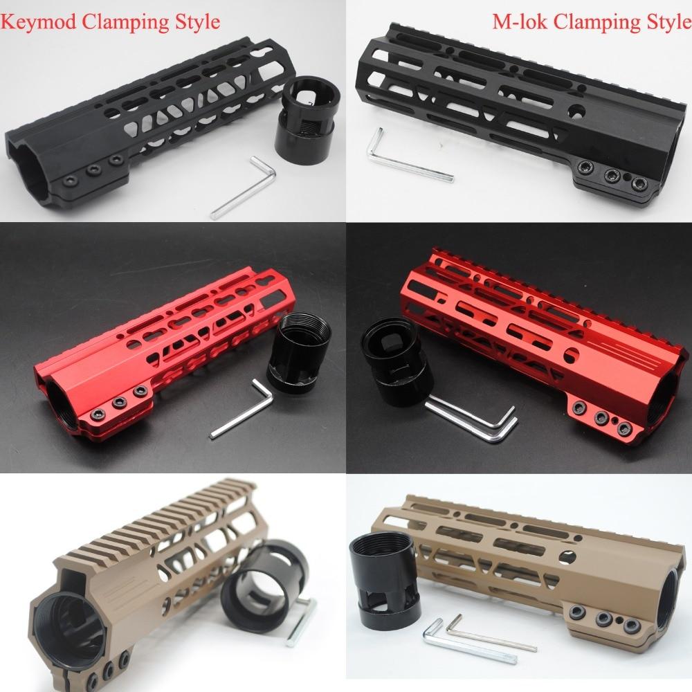7 ''pouces Keymod/m-lok serrage noir/rouge/Tan monolithique haut Handguard Rail Picatinny libre flotteur système de montage Fit. 223/5. 56