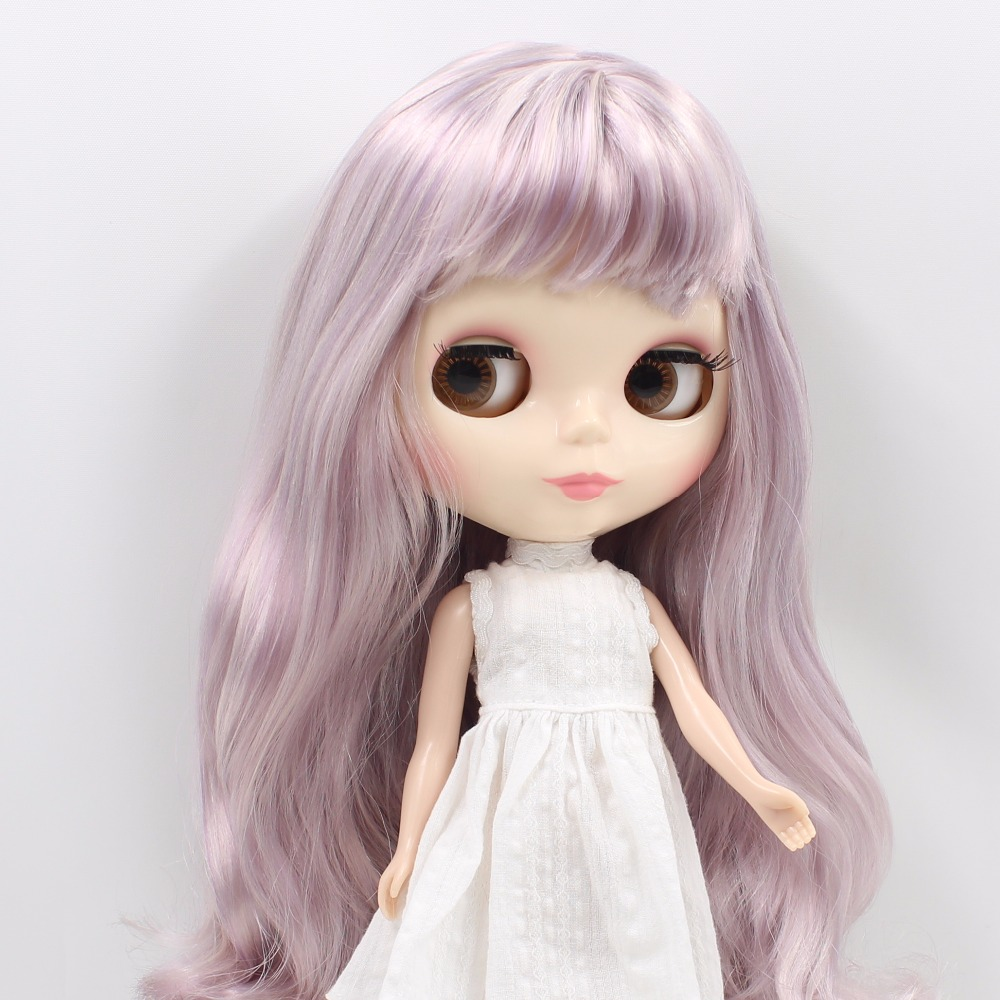 free shipping fortune days factory BL3139/1049  blyth doll beige mix Violet hair with bangs normal body shiny face 1/6-in Dolls from Toys & Hobbies    1