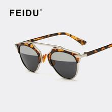 FEIDU дизайн Бренда Поляризованные Cat eye Солнцезащитные Очки Женщины Летний Стиль половина Цвет Солнцезащитные очки Для Женщин Вождения Gafas Óculos де sol