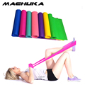 MACHUKA 4FT Rubber resistance bands Fitness workout elastic training band for Yoga Pilates band crossfit bodybuilding exercise