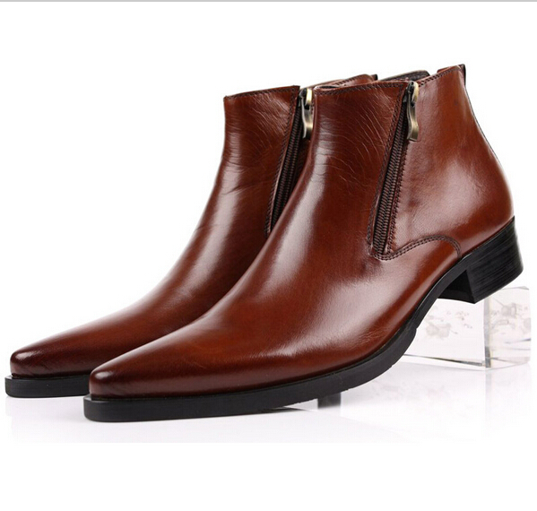 Mens Ankle Boots Zipper - Cr Boot