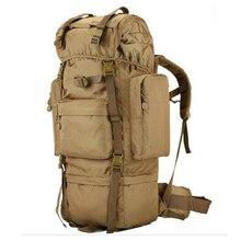 70 l multifunktionale wasserdichte nylon rucksack metall stents große kapazität reisetasche hochwertigen verschleißfesten männlichen taschen
