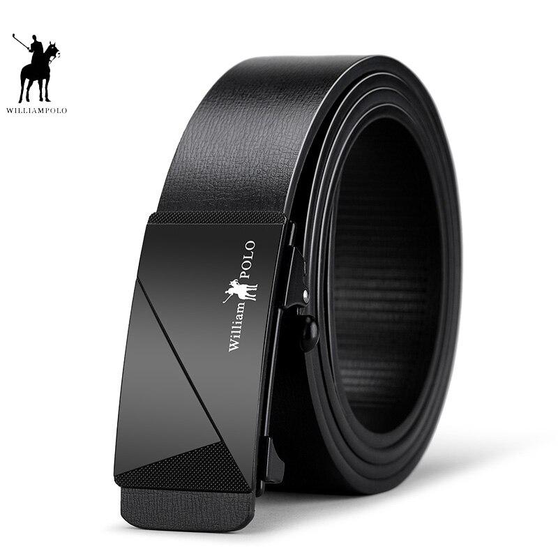 Men   Belt   Genuine Leather Plating Buckle Luxury Brand Male   Belts   Black WaistBand Strap Original Natural Cowskin   Belts   PL18171P