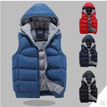 M/3Xl Colete Masculino Men'S Two Side Wear Winter Autumn Cotton Padded Vest Male Casual Large Size Sleeveless Down Jacket J101