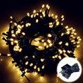 200 светодиодов солнечная лужайка лампа 8 режимов Открытый Сад Водонепроницаемый свет свадебное украшение рождество праздник цепи