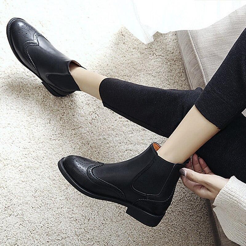 Teahoo Retro Leather Chelsea Boots