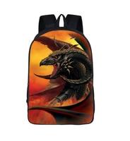 Fantastic Beasts Backpack Magic Dragon Preppy School Bag Teenagers bag For Teenage Girls School Bag Women Travel Bag