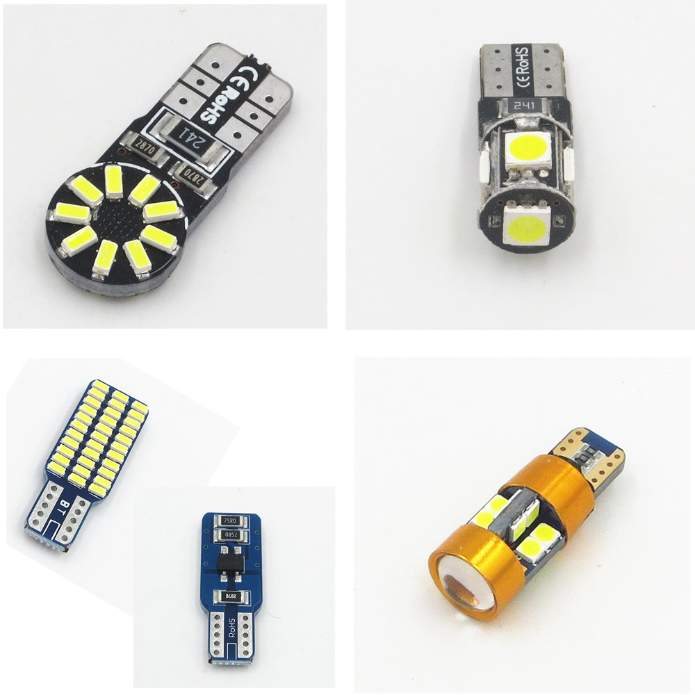1x 5050 2835 SMD Car T10 T15 Canbus Error Free LED W5W 194 Wedge Replacement Reverse White light bulbs No Error лампа для чтения newsun t10 9 smd 5050 canbus w5w