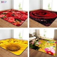 11 rodzajów kwiaty duże dywany romantyczna róża duży Parlor mata miękka flanelowa dywaniki słonecznika domu dekoracyjne do salonu sypialni