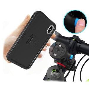 Image 5 - אופני אופניים אופנוע כידון הר מחזיק טלפון סלולרי תיק מחזיק עם עמיד הלם מקרה הגנת Stand עבור Iphone Xr/Xs מקסימום