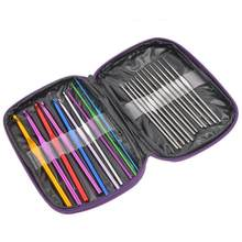 1Set Multi-colour Aluminum Crochet Hooks Needle Knit Weave Craft Yarn Over $120 Free Express(China)
